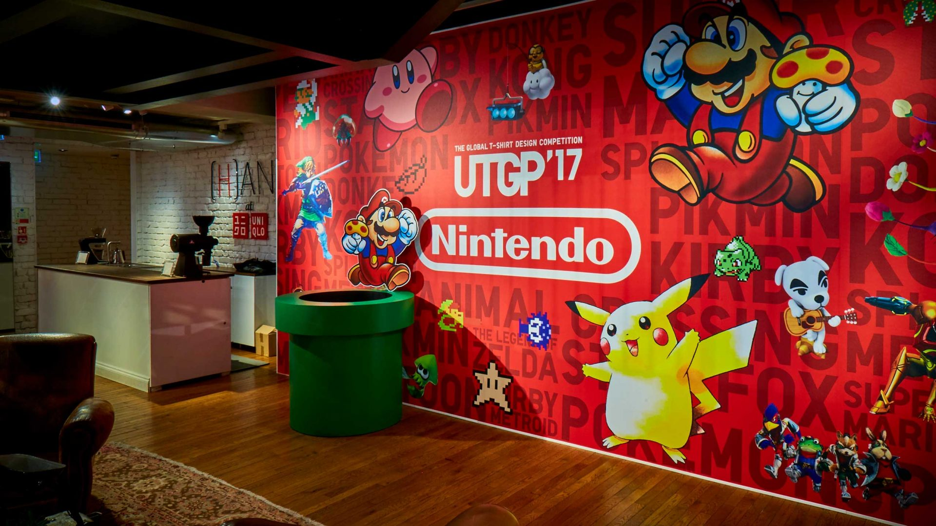 Nintendo display for UTGP17 at Uniqlo